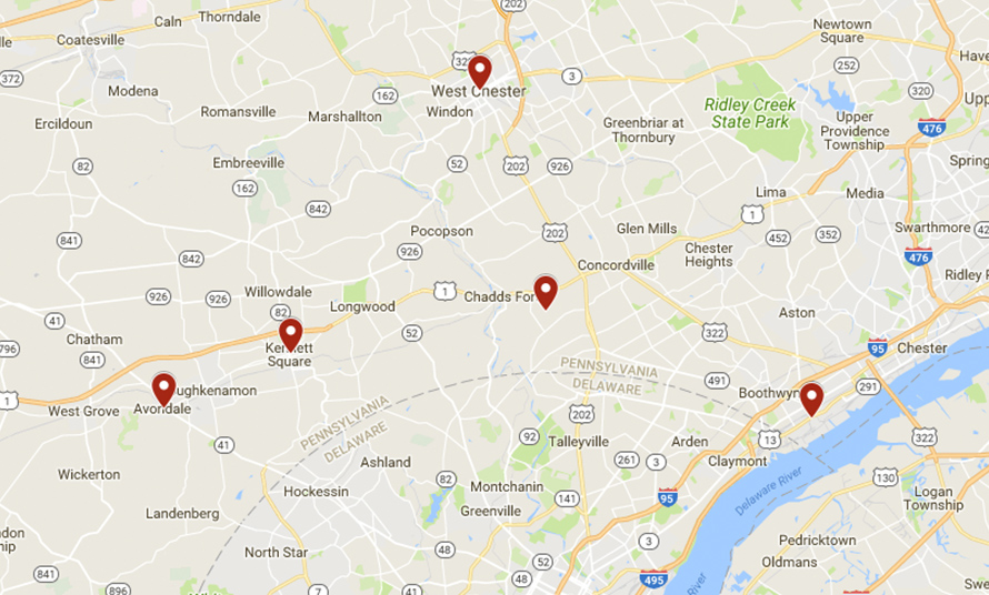 Contact: Pennsylvania Pest Control Office | Delmar Termite and Pest Control - map-pennsylvania